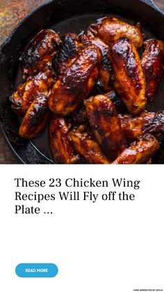 These 23 Chicken Wing Recipes Will Fly off the Plate . Honey Bbq Chicken Wings, Spicy Baked Chicken, Cooking Chicken Wings, Smoked Chicken Wings, Chicken Parmesan Recipes, Baked Chicken Recipes, Spicy Chicken Marinades, Chicken Wing Marinade, Fried Chicken