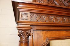 Single door walnut gothic armoire 19th century - Armoires - Houtroos