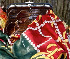 Vintage Retro, Nina Ricci 1970's Silkscarf, Paris. Luxottica Sunglasses, 1970, Italy. Goldpfeil Studio, 1960, W. Germany, Bag Bago, Drawstring Backpack, Vintage Fashion, Retro, Explore, Studio, Photos, Pictures, Studios