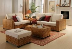Furniture: Brown Seagrass Coffee Table Square Shape Placed At Your Living Room To Accompany You Drink Coffee And Reading Newspaper Place At Center Of Sofa And Chair To Seating from Best Seagrass Coffee Table