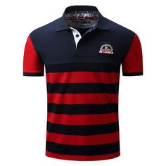 Men's Striped Polo Shirt-C562