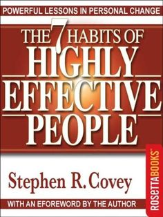 The 7 Habits of Highly Effective People. I usually prefer non-fiction over fiction. This is one of my favorites of many motivational books I like.