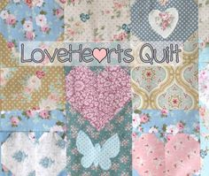 LoveHearts Quilt to Make in a Weekend.