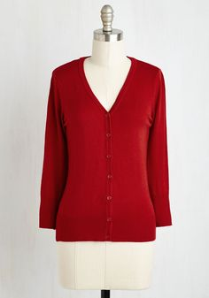 Charter School Cardigan in Red. Show your style smarts in this versatile cardigan! #red #modcloth