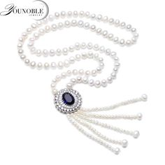 Real Freshwater Long Pear Necklace For Women,Tassel Natural Pearl Pendant Necklace 925 Silver Jewelry Statement Wife Mother Gift Long Pearl Necklaces, Cheap Necklaces, White Pearl Necklace, Pearl Pendant Necklace, Metal Necklaces, Colar Fashion, Fashion Necklace, Necklace For Girlfriend, Necklace Types