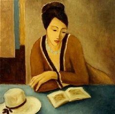 w ℴ m e n . w ℎ o  . r ℯ a d - Woman with book, n. d. | Silvana Cimieri