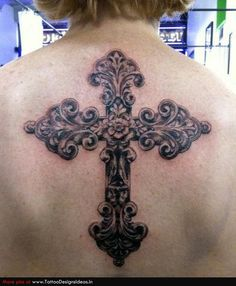 A cross tattoo Posted by Allen Tattoo on Tagged: cross back black and gray The post A cross tattoo appeared first on Tattoos. December 20 2019 at Cross Tattoo Designs, Tattoo Designs And Meanings, Tattoo Designs For Women, Back Cross Tattoos, Cross Tattoos For Women, Body Art Tattoos, New Tattoos, Cool Tattoos, Awesome Tattoos