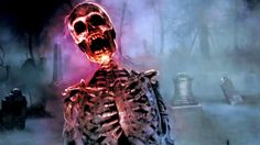AtmosFearFX Bone Chillers : Flatscreen TV and Projection Effects: Hallow... Fröhliches Halloween, Halloween Ideias, Digital Halloween Decorations, Jack O Latern, Ghost Hunting, Vignettes, Holiday Fun, Scary, Scary Halloween