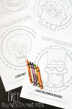 Free Halloween Coloring Pages on { lilluna.com }