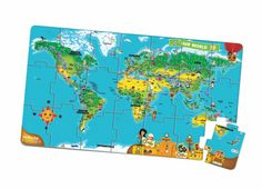 LeapReader™/Tag™ World Map Jumbo Puzzle
