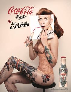 Jean Paul Gaultier's Tattoo Bottle for Diet Coke Debuts in New Campaign