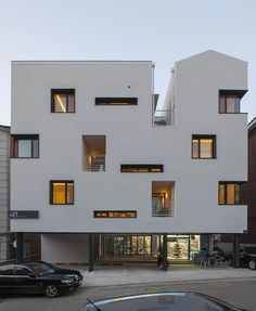 Image 1 of 36 from gallery of Gap House / Archihood WXY. Photograph by Woohyun Kang Minimalist Architecture, Facade Architecture, Residential Architecture, Design Exterior, Facade Design, Small Buildings, Modern Buildings, Famous Buildings, Building Facade