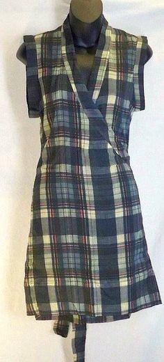 Isabel Marant Dress (Pre-owned Etoile Gray Plaid Wrap Designer Dress)