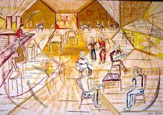 Figurativo - Acrílico sobre tela  -  2,50 x 2,50  -   Feijoada com Pagode