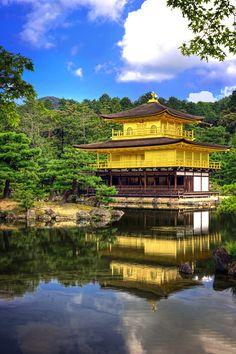 #Japan Temple of the Golden Pavilion - Kinkaku-ji