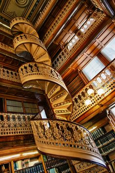 Iowa, USA.  Capital Building.  Law library staircase.