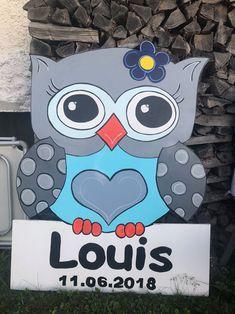 Geburtsschilder/Geburtstafeln Oberaargau /Langenthal-Aarwangen - Geburtsschild.ch Minnie Mouse, Disney Characters, Picture On Wood, Owl Crafts, Baby Ideas, Baby Favors, Disney Face Characters
