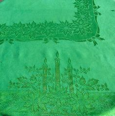 Lenox Holly Damask 52 By 70 Inch Tablecloth, Green | #Christmas Tablecloths  U0026 Linens | Pinterest