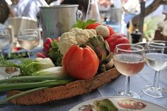 The Crudites at Le Club 55 in St. Tropez - A must!