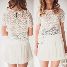 Lace top and skirt by Coo Culte