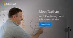 Watch and learn how Nathan was able to easily adapt to cloud technology, and streamline process within his organization: http://msft.social/r3XNn8 #bitLife