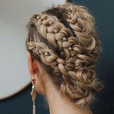 star pins and braids