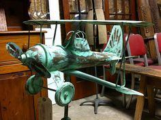Antique Biplane Weathervane