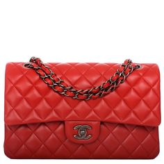 Chanel Medium Classic double flap bag of red quilted lambskin leather with aged ruthenium hardware. AVAILABLE NOW For purchase inquiries, Please Contact: Email: info@madisonavenuecouture.com I Call (212) 207-4572 I WhatsApp (917) 391-2281 Direct Message on Instagram: @madisonavenuecouture Guaranteed 100% Authentic | Worldwide Shipping | Bank Transfer or Credit Card