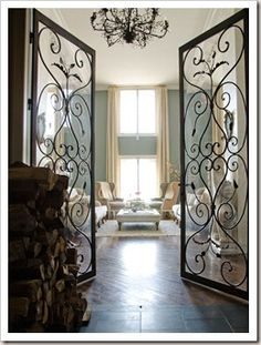 Etonnant Interior Iron Doors, Via Vogue