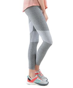 Grey striped cropped leggings - OYSHO