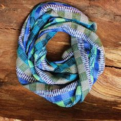 Colorful Infinity Scarf - Handwoven