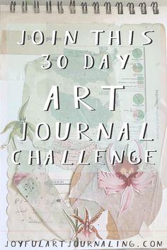 Art Journal Pages, Art Journal Challenge, Art Journal Prompts, Art Journal Techniques, Journal Ideas, Art Journals, Journal Entries, Junk Journal, Messy Art
