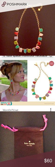 Kate Spade multi color necklace Kate Spade gumdrop multi color gem necklace, pouch included! kate spade Jewelry Necklaces