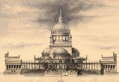 Proposal for a cathedral in Berlin, by Wilhelm Schleicher (1884)