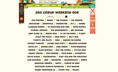 Is This The 2015 Lineup For The Austin City Limits Festival?