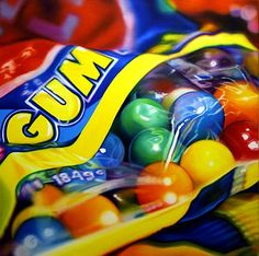 Sarah Graham hyper realistic food still life Sarah Graham Artist, Juan Sanchez Cotan, Sweet Drawings, Hyper Realistic Paintings, Food Artists, Candy Art, A Level Art, Still Life Art, Photorealism