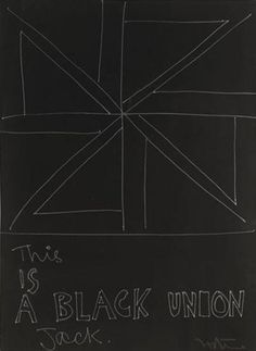 Ralph Hotere - This is a black union jack