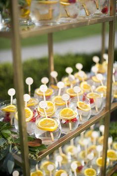 Refreshing Sips: For hot summer months, help keep your wedding guests cool with some refreshing AND eye-pleasing sips. Add your favorite citrus or use a slice of orange and you've got yourself the perfect summer wedding detail!