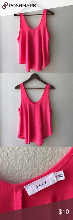 Nordstrom Pink Lush Tank Drapey pink tank perfect for Summer Lush Tops Tank Tops