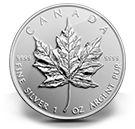1 oz. Fine Silver Coin - Maple Leaf (2014)