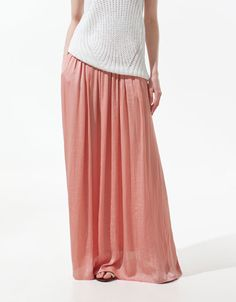 I love this maxi skirt at Zara €49.95