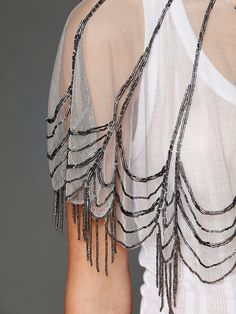 Image result for capelet sheer