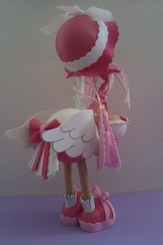 Fofucha cigüeña rosa.