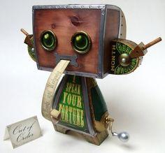 Super Punch: Custom Steampunk Fortune Teller Vinyl Toy By Doktor A