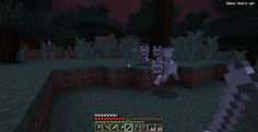 <This is my last Demo Mode screenshot> My first tamed wolves.  They were pretty nice.