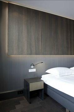 Diverse soorten verlichting toegepast in een slaapkamer, nachtlampje ...