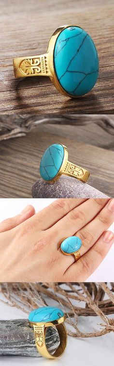 Mens Vintage Fine Jewelry 52576: 10K Yellow Solid Gold With Natural Turquoise Gemstone Vintage Style Ring For Men -> BUY IT NOW ONLY: $254.95 on eBay!