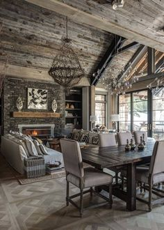 Ski-in/ski-out chalet in Montana with rustic-modern styling                                                                                                                                                                                 More