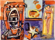 Borai & Kahne Ateliers, Prospekt - Kaffee # painting on newspaper, Single Sheets, Newspaper, Collage, Painting, Art, Atelier, Kaffee, Art Background, Collages