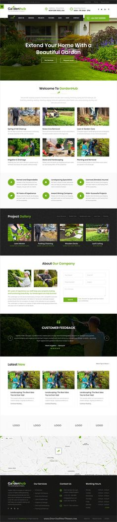 Garden HUB is clean and modern design 4in1 responsive bootstrap #HTML template for #gardening, landscaping and #lawn services website to live preview & download click on Visit 👆